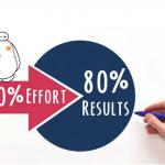 Bí mật thành công của Sale chuyên nghiệp: Luôn áp dụng nguyên tắc 80/20 để vươn lên dẫn đầu.